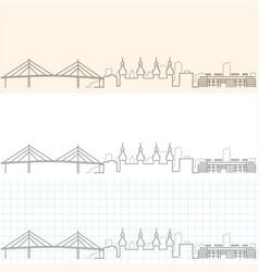 Tampa hand drawn skyline vector