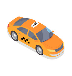 taxi car icon in isometric projection vector image