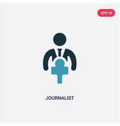 Two color journalist icon from people skills vector