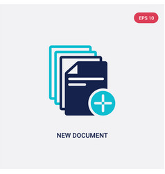 Two color new document icon from education vector