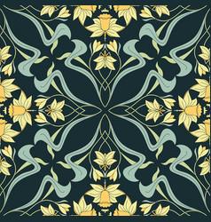 vintage seamless pattern floral vector image
