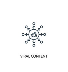 viral content concept line icon simple element vector image