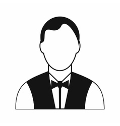 Waiter black simple icon vector