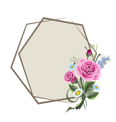 wedding card with roses vector image
