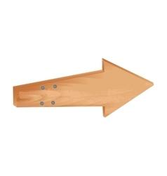Wooden arrow guide sign vector