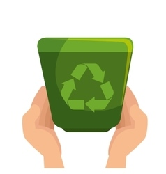 arrows recycle ecology icon vector image