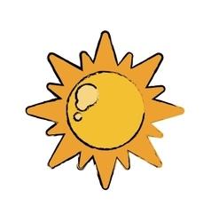 drawn sun energy natural symbol design vector image