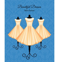 Dresses on the Mannequins Background vector image