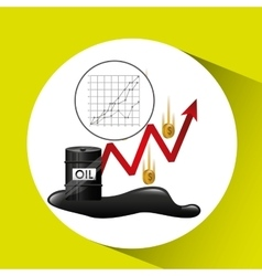 Money oil industry growth diagram background vector