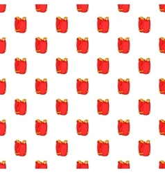 Red paintball vest pattern cartoon style vector