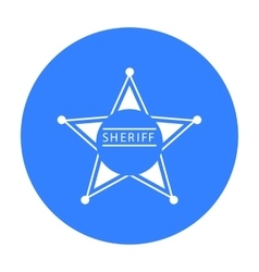 Sheriff icon black Singe western icon from the vector image