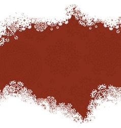 Snowflake Christmas Card vector image vector image