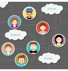 Social media cloud computing network vector