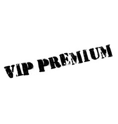 vip premium rubber stamp vector image vector image
