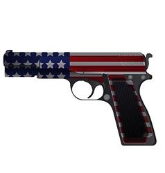 America Gun Pistol Crime Isolate vector image