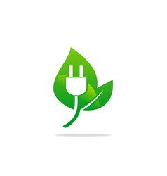 bio electric nature energy logo vector image vector image