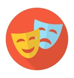 Comedy and tragedy theatrical masks vector image