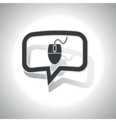 Curved computer mouse message icon vector image vector image