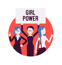 girl power poster vector image