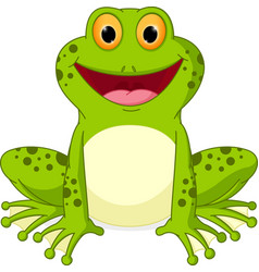happy frog cartoon vector image