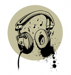 headphone drawing vector image vector image
