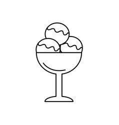 ice cream cup line icon sign vector image
