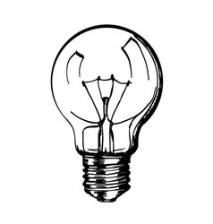 sketch of hand drawn lamp vector image