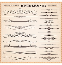 Design elements dividers and dashes vector image vector image