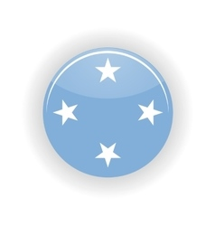 Federated States of Micronesia icon circle vector image
