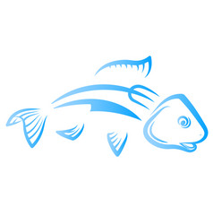 fish with knife and fork vector image vector image