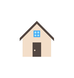 House solid icon home and building sign vector