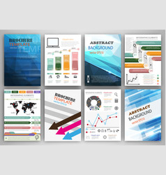 infographic icons and blue backgrounds vector image vector image