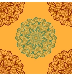 Ornamental henna mandala card Geometric circle vector image vector image