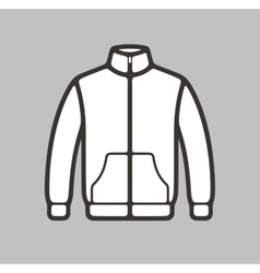 Sport jacket icon vector image