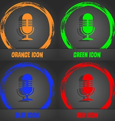 microphone icon Fashionable modern style In the vector image