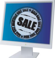 monitor sale vector image vector image