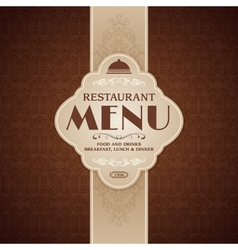 Restaurant cafe menu brochure template vector image vector image