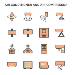 20190414 air conditioner icon 6 red vector image