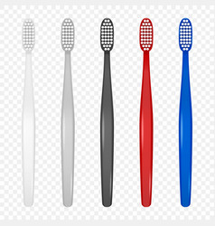 3d realistic plastic blank toothbrush icon vector image