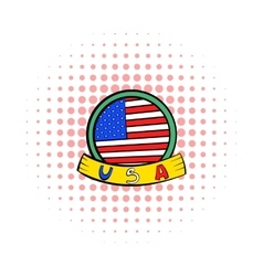 4th july independence day badge icon vector image