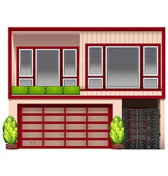 A building with red frames vector image