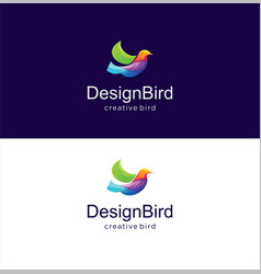 abstract bird logo design creative sign vector image