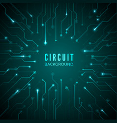 Abstract circuit background technological banner vector