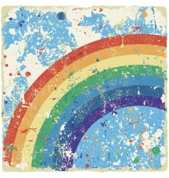 Abstract grunge background with rainbow vector image
