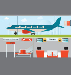Airport infographic design vector