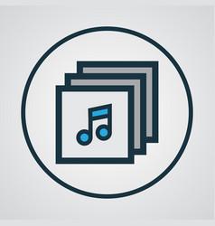 Albums colorful outline symbol premium quality vector