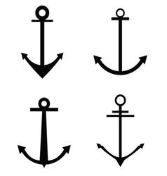 Anchor four icon silhouette vector