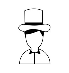 Antique gentleman avatar character vector