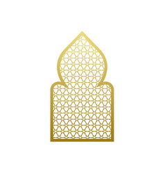 arab window door pattern arabian islamic vector image