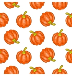 Autumn halloween seamless pattern vector image